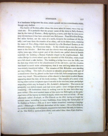 Text from 'Narrative of a Residence in Ireland during the Summer of 1814, and that of 1815' by Anne Plumptre.