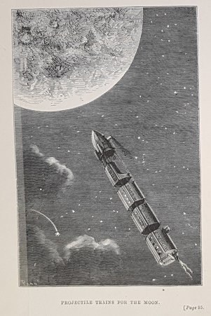 Plate from 'From the Earth to the Moon Direct in 97 hours 20 minutes: and a trip round it' by Jules Verne.