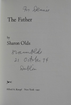 Sharon Olds signed title page