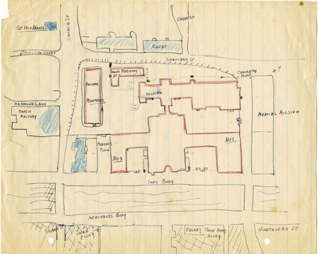 Sketch of area around Four Courts