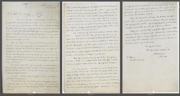 Letter by John Henry Newman