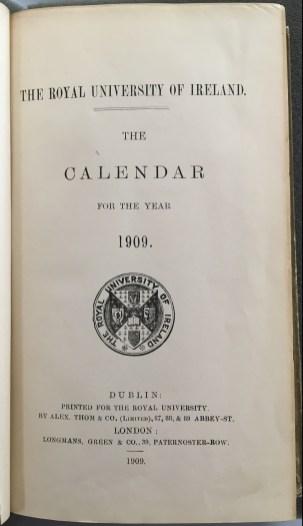 RUI Calendar from 1909.