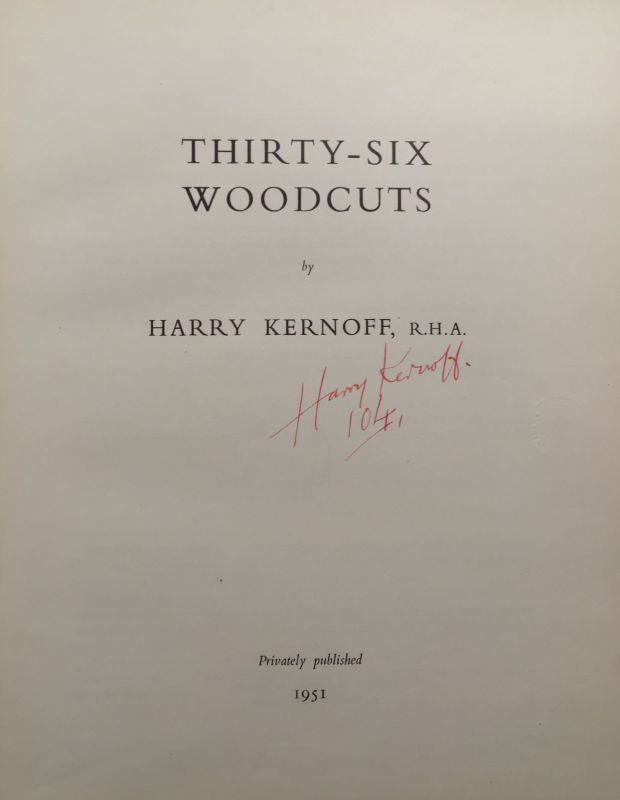 Title page from <em>Thirty-Six Woodcuts</em>