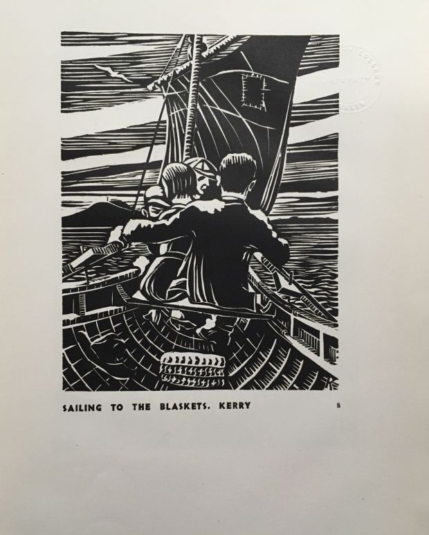 'Sailing to the Blaskets' from <em>12 Woodcuts.</em>