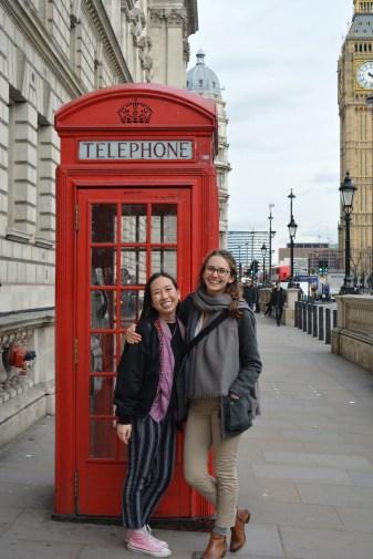 Cheesy Tourist Telephone Photo