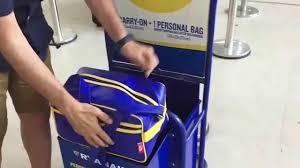 ryanair checked bag