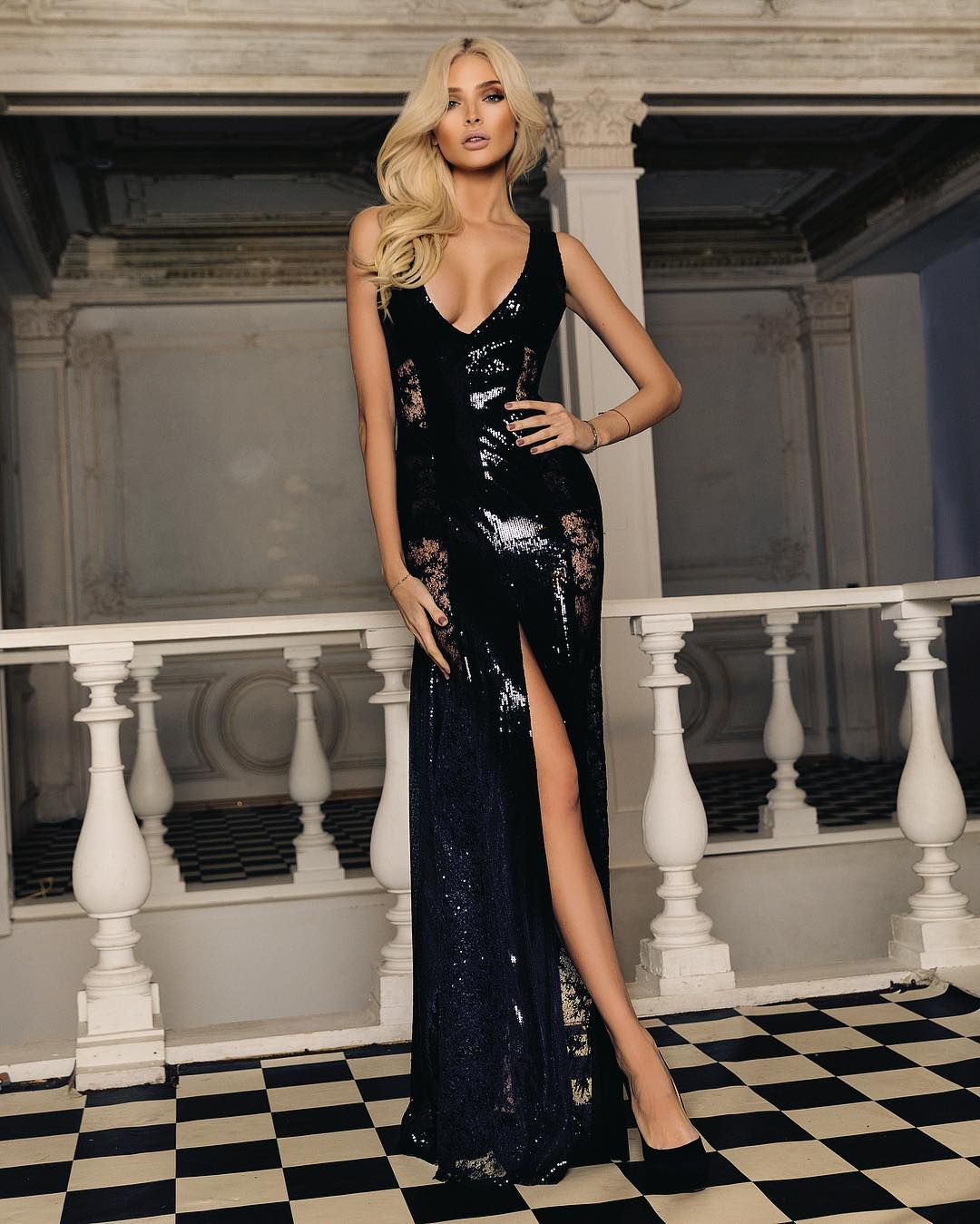 фото худеньких девушек в вечерних платьях