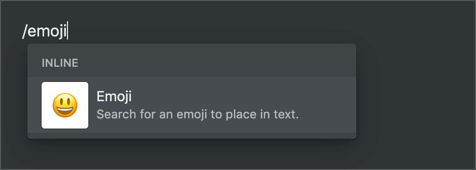 notion insert emoji