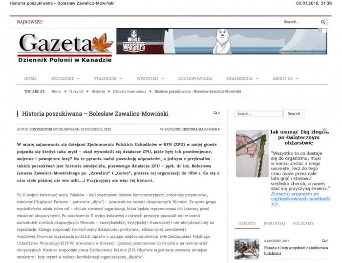 Historia poszukiwana – Bolesław Zawalicz-Mowiński