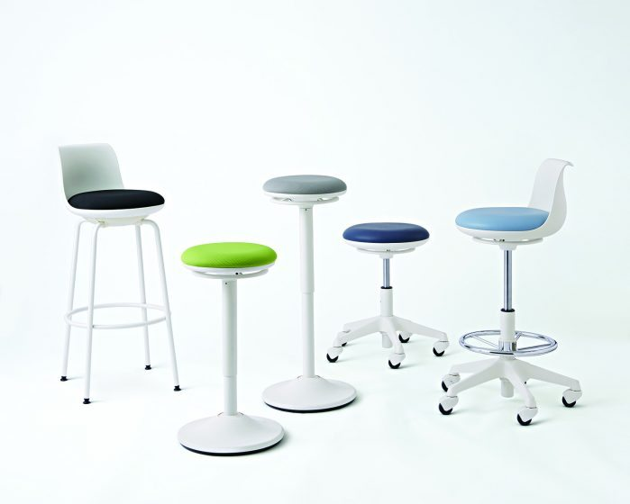 posture office stool chair covers for wedding hire repiroue by okamura   uci