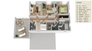 Obergeschoss Einfamilienhaus Worpswede Grundriss Obergeschoss