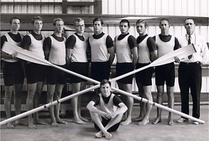 Founding Crew with Coach Duvall Hecht - 1965