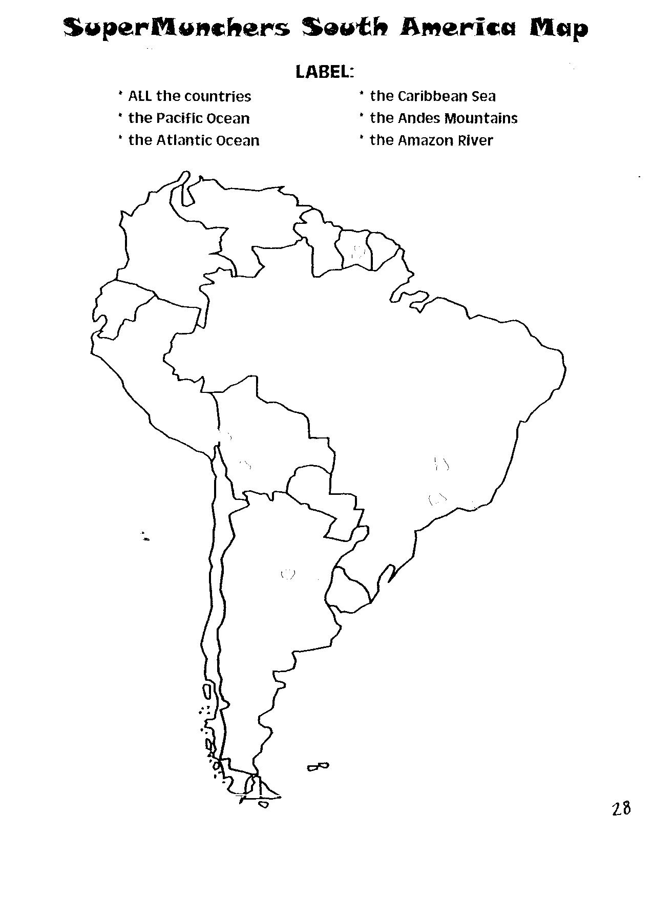 5d Supermunchers South America Map Uc Links Activity Guides