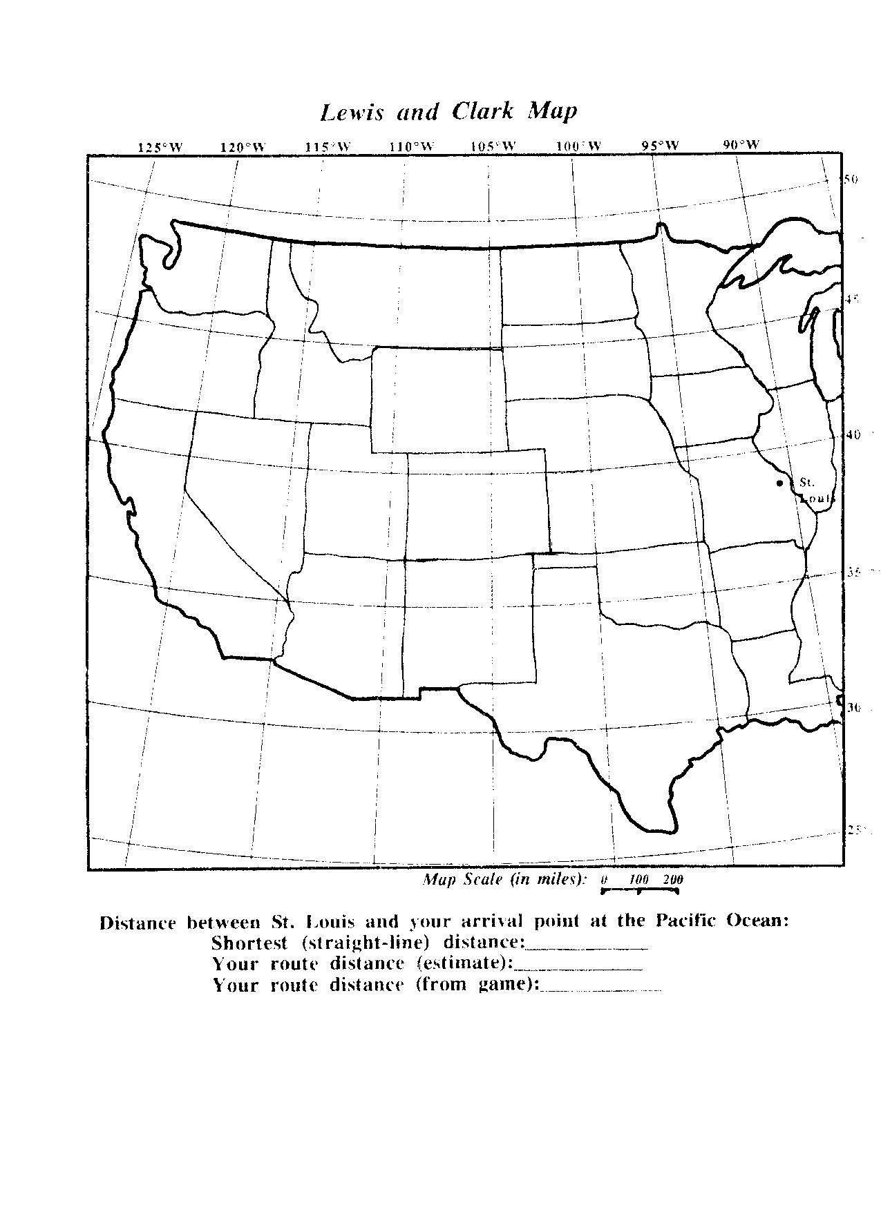 Lewis And Clark Worksheets Free