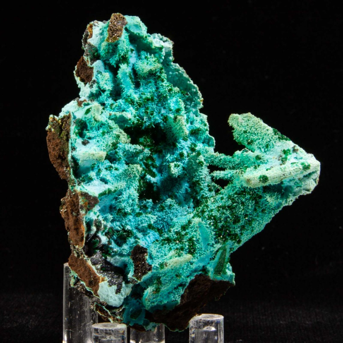 Chrysocolla ps. Malachite ps. Azurite