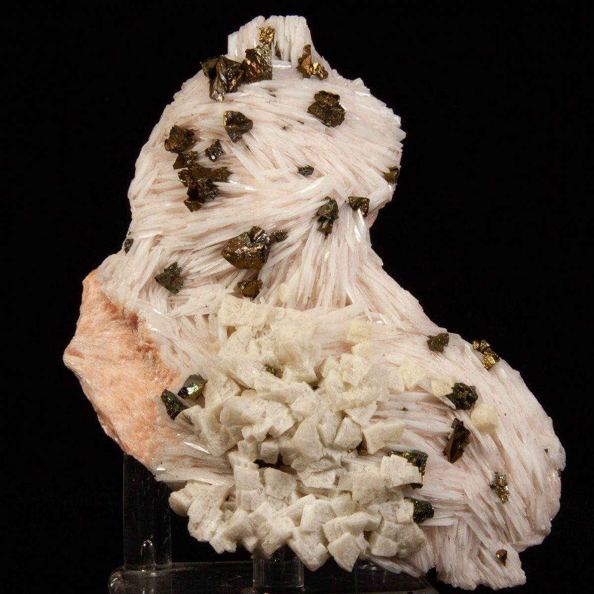 Barite and Chalcopyrite