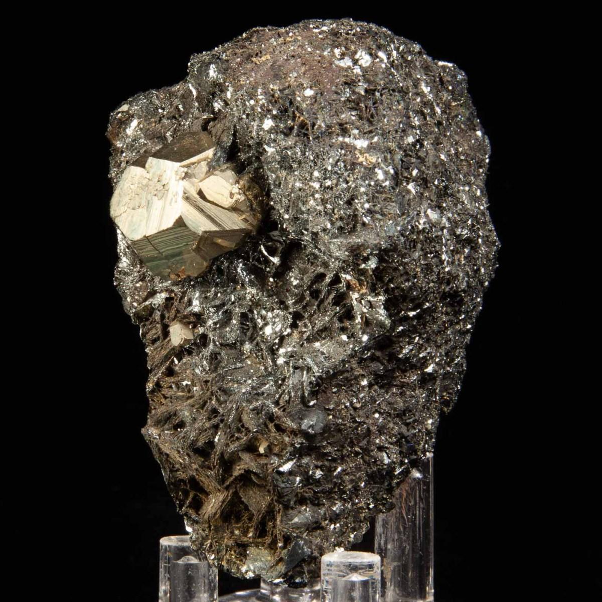 Pyrite on Hematite