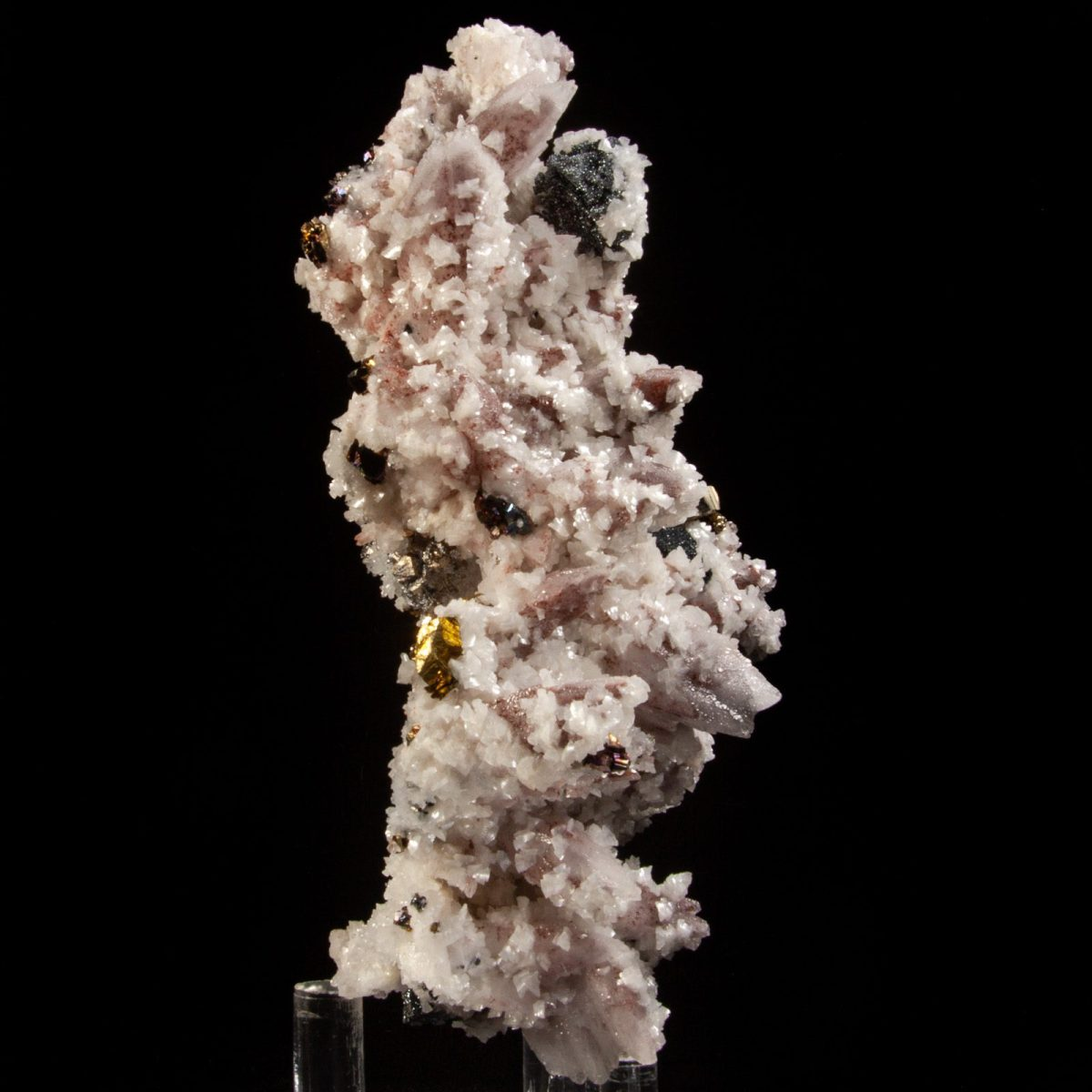 Calcite with Hematite, Dolomite, and Pyrite