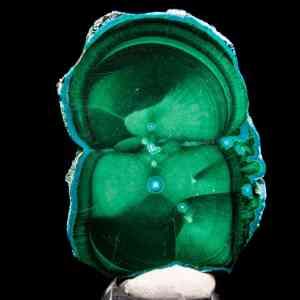 Malachite and Chrysocolla Stalactite