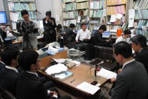 判決後、福岡市内での記者会見