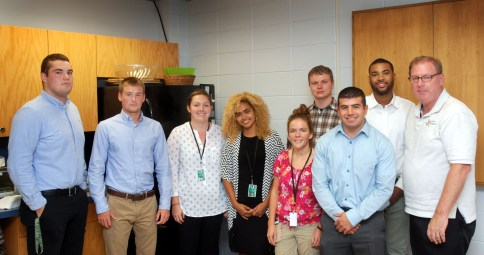 Sheriff Cryan with the 2016 summer interns