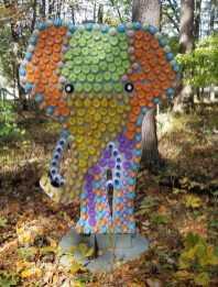 2020 recycled art wildlife walk elephant