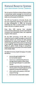 50th Anniversary Capital Campaign insert