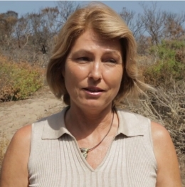 Cristina Sandoval is director of the NRS's Coal Oil Point Reserve. Image credit: Spencer Bruttig