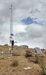 NRS climate monitoring network stations, such as this one at Motte Rimrock Reserve, will substantial maintenance and upkeep to continue providing useful data. Image credit: Ken Halama
