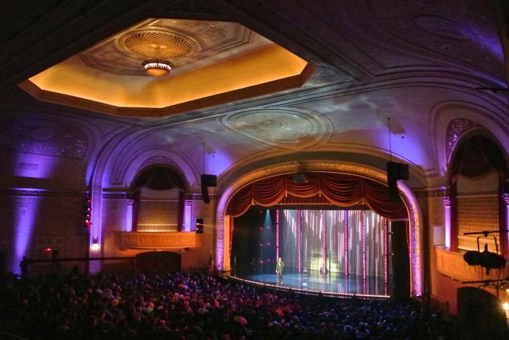 D.L. Hughely performs to a packed crowd at the Union County PAC for his Showtime Comedy Special. Photo by Christina Wilson. (2012)
