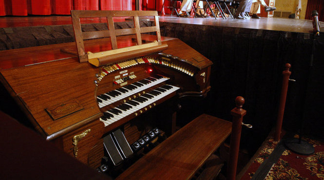 """UCPAC's """"Biggest Little Wurlitzer"""" during its debut performance after full restoration in 2014"""