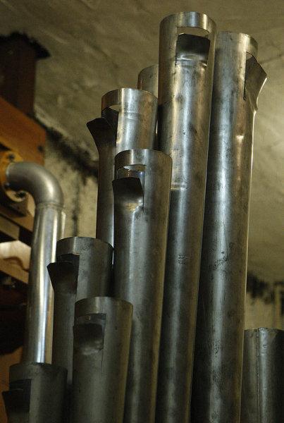 "UCPAC's ""Biggest Little Wurlitzer"" - closeup detail of inner workings"