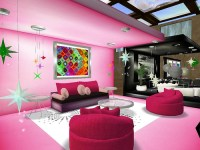 Pink Retro Living Room Set  Home Gallery