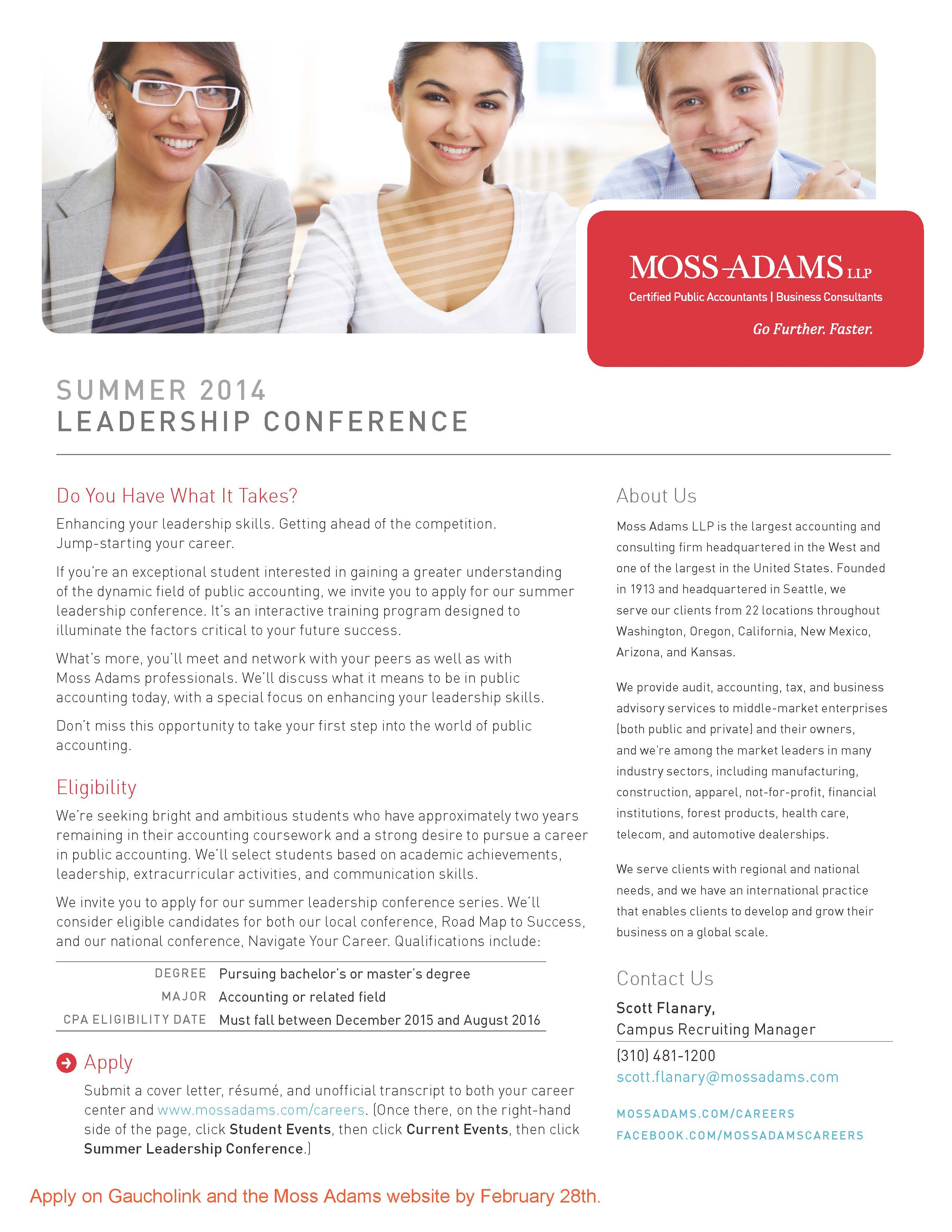 Moss Adams Summer Leadership Career Connection