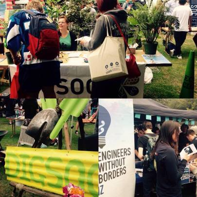 BioSoc, DigSoc and Engineers without borders - Eco Clubs at UC Clubs day #ucsustain #ucnow Engineers Without Borders (EWB) Canterbury UC Community Gardens