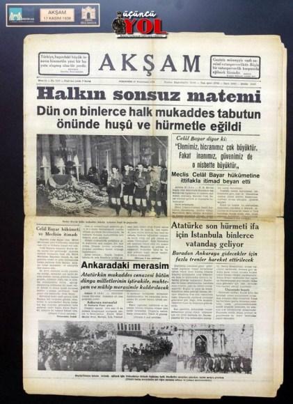 10 kasım 1938 gazete manşetleri (10)
