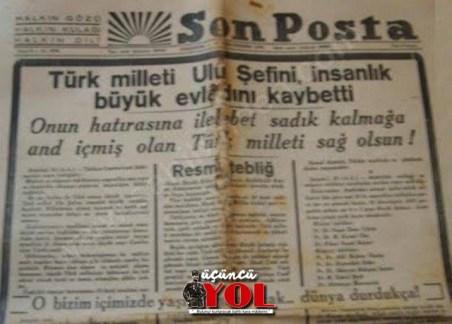 10 kasım 1938 gazete manşetleri (3)