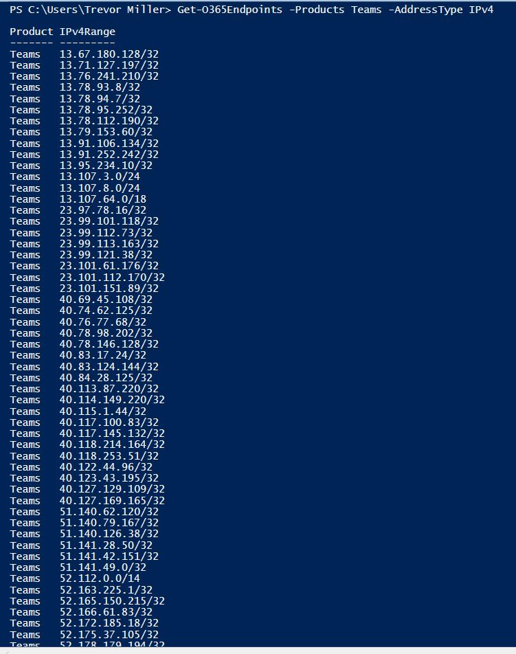 Retrieving Office365 IPs and URLs via PowerShell – UCvNEXT