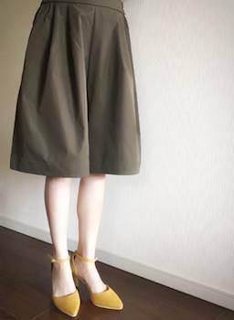 お母さんも嬉しいカーキのスカーチョ