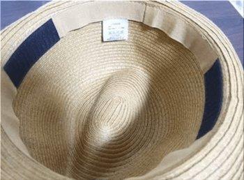 100均アイテムを使った帽子が風で飛ばない方法5 (マジックテープを付ける)