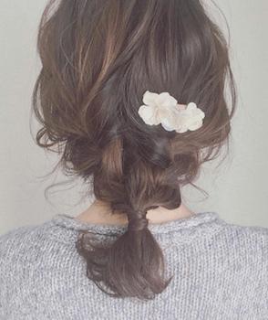 入学式でスーツに合うレディースのハーフフイッシュボーンの髪型