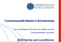 Commonwealth Master's Scholarships 2020 for full-time Master's study at a UK university (Fully Funded)