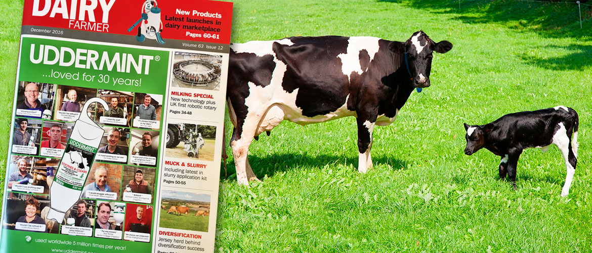Dairy Farmer Uddermint Cover Advert