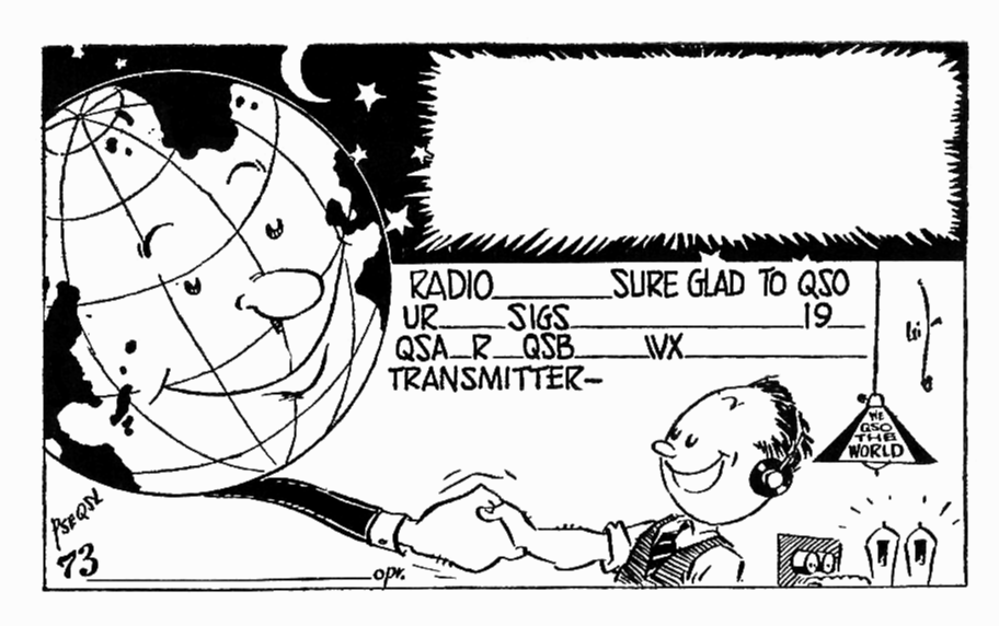 QSL the Globe 1934