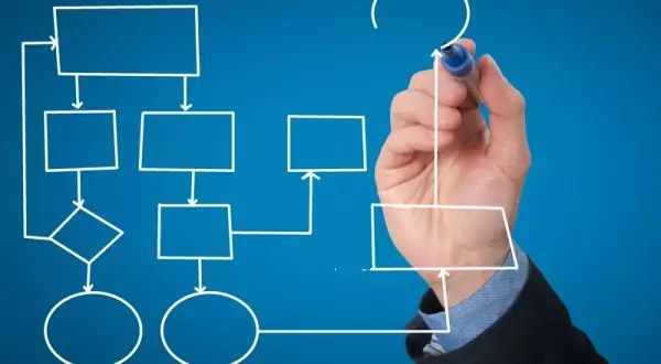 Hand Drawing An Empty Diagram Stock Image Image 8532621