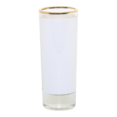 GOLD RIM GLASS SHOOTER – 2.5oz