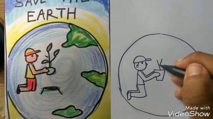 Lukisan Poster Alam Sekitar Simple | Cikimm.com