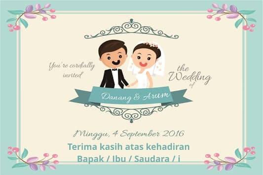 Ucapan Terima Kasih Pernikahan