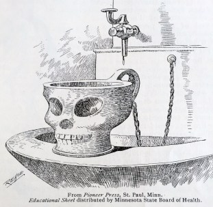 Illustration from The Cup Campaigner, August 1910. (Hugh Moore Dixie Cup Company Collection, Special Collections and College Archives, Skillman Library, Lafayette College.)