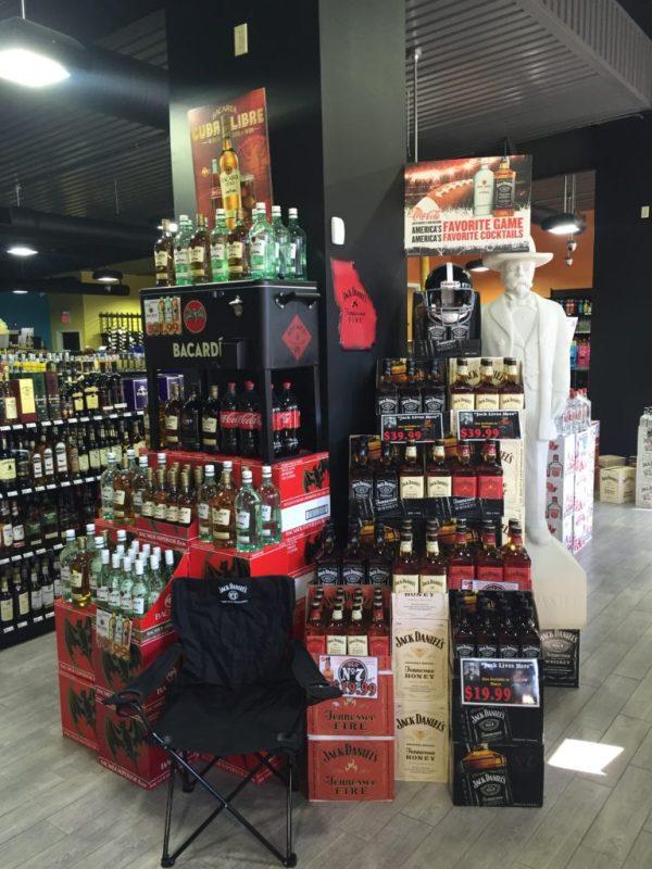 Jack Daniel's Liquor Store Displays